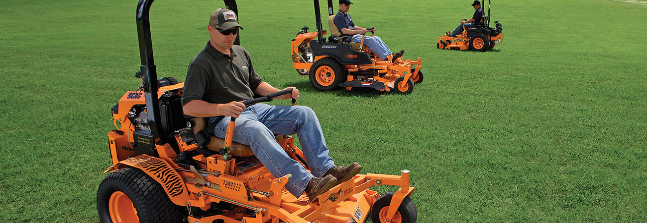 Group of Scag ZTR Mowers